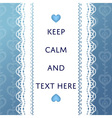 luxury blue lace background card template vector image