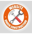 Under construction and tools vector image