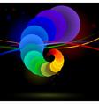rainbow balls vector image vector image