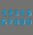 Blue numbers isolated on grey background vector image
