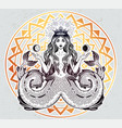 alchemy melusine siren twin-tailed mermaid girl vector image