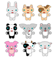 Animals pets cartoon vector image