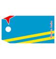 Aruba flag on price tag vector image