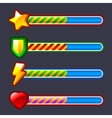 Energy progress loading game bar set vector image