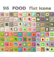 food flat icons 04 vector image