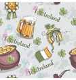 Seamless texture for St Patricks Day with a pot vector image