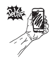 Taking a Selfie Photo vector image