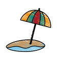 umbrella beach design vector image