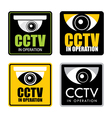 cctv vector image vector image