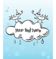 Banner Cloud With Birds vector image
