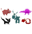 Fantastic cartoon animals vector image