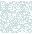 Pale romantic seamless pattern vector image