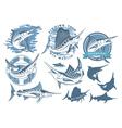 marlin fishing vector image