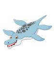 Cartoon happy Liopleurodon vector image