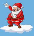 cartoon santa on snow vector image