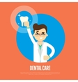Dental care banner with male dentist vector image