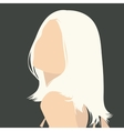 gray portrait vector image