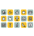Icon office vector image