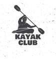 kayak club vector image