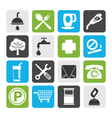 Flat Petrol Station and Travel icons vector image vector image