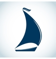 Sailing boat icon in flat design vector image