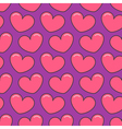 Pink contour heart Seamless Pattern Wrapping paper vector image