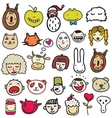 Set of doodle faces vector image vector image