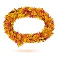 Speech bubble of autunm fall orange leaves vector image