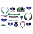 Table tennis game heraldic elements vector image vector image