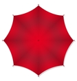 Red rain umbrellas vector image