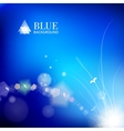 Blue background with a leaves glowing vector image