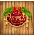 Christmas Garland Frame Balls background vector image