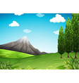 Nature scene with mountain and field vector image