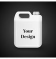 Plastic Jerrycan Oil Cleanser Detergent vector image