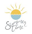 summer time sun vector image