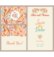 Wedding invitation templates set vector image