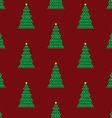 Xmas tree background red vector image