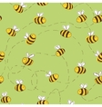 Bee Seamless Pattern vector image