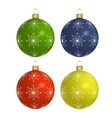 Christmas colorful balls isolated on white vector image