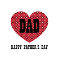 red bandana heart fathers day vector image