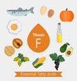 vitamin f or essential fatty acids infographic vector image