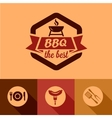 bbq design elements vector image