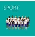 flat with men group or community wearing sport vector image