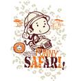 Funny safari monkey vector image vector image
