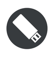 Monochrome round USB stick icon vector image