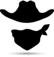 Cowboy icon isolated on white vector image