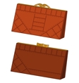 Brown leather wallets set vector image
