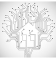 Circuit board house vector image