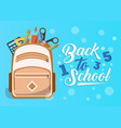 back to school banner in flat style vector image