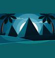 cartoon egypt landscape pyramid sun palm vector image